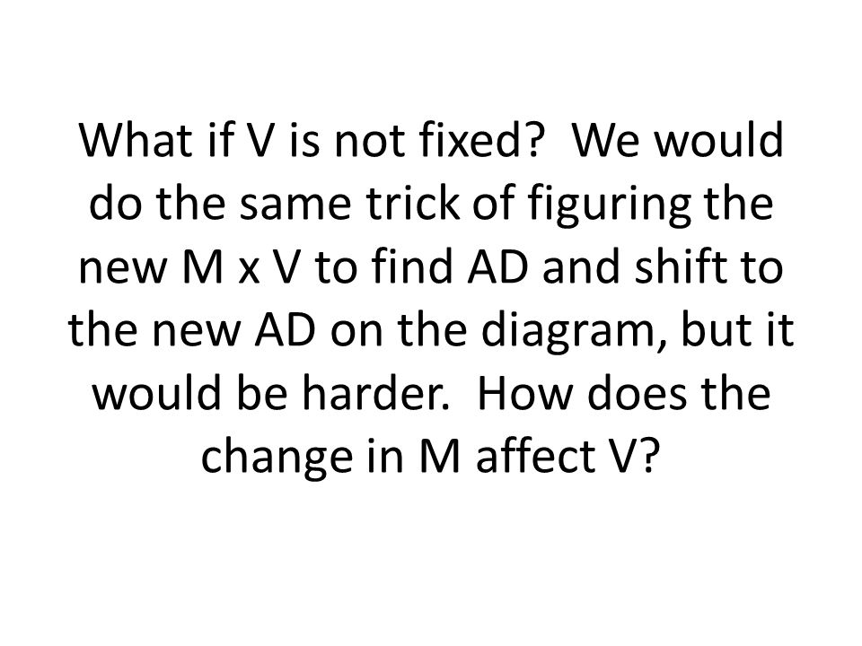What if V is not fixed.
