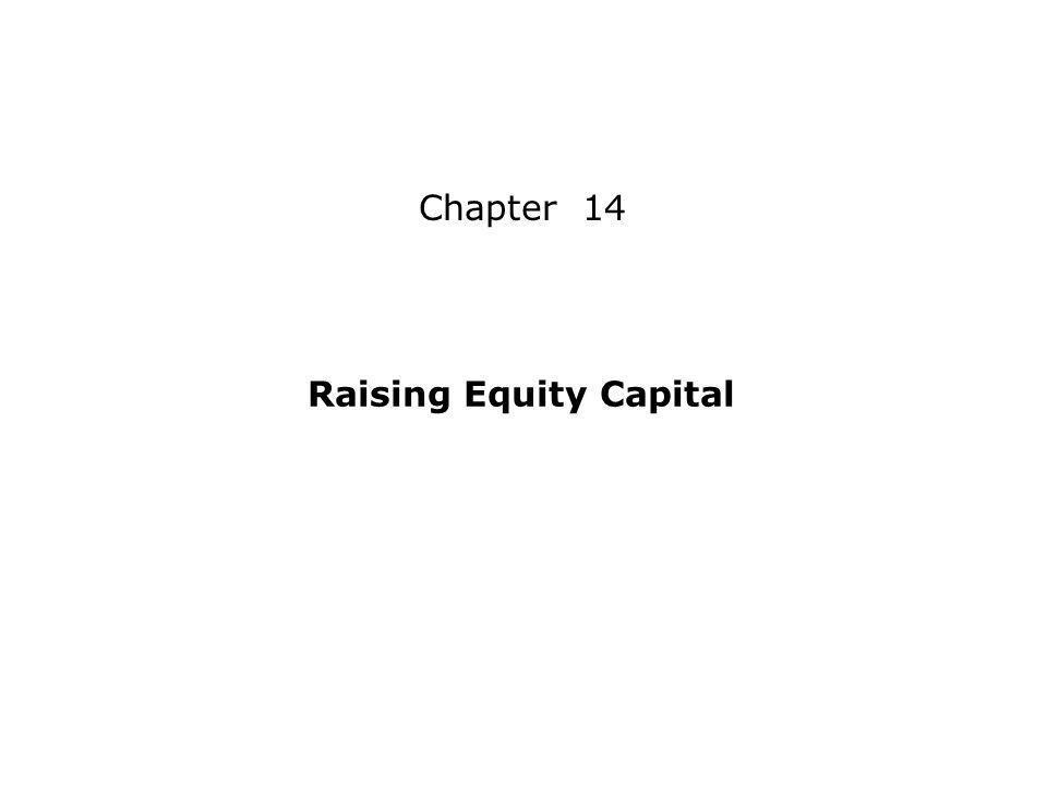 Chapter 14 Raising Equity Capital