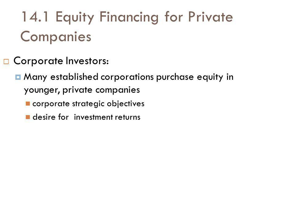 14.1 Equity Financing for Private Companies