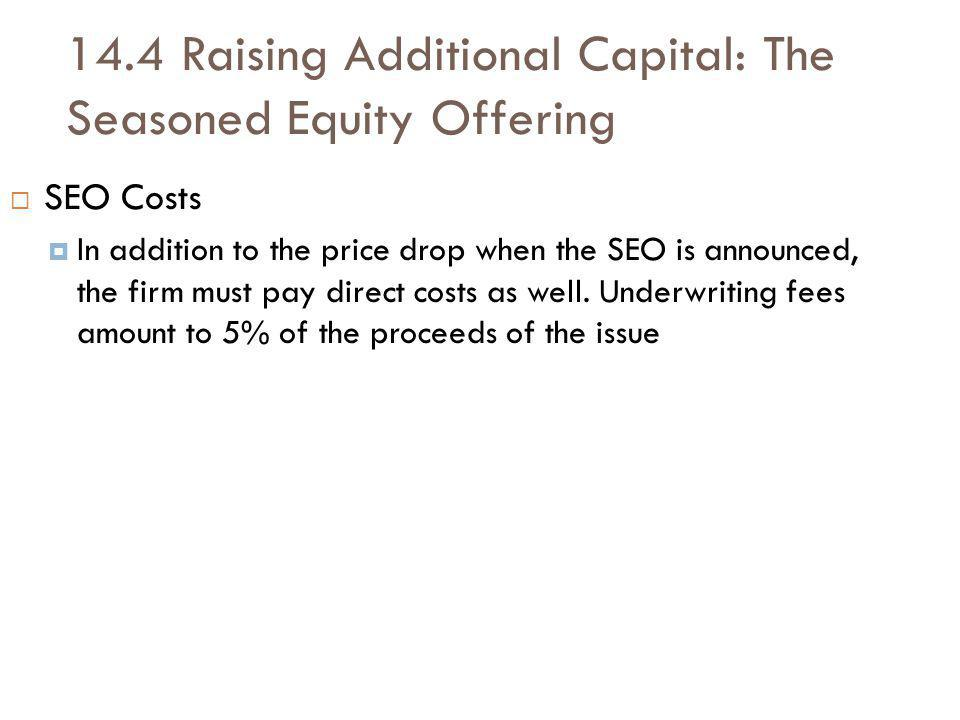 14.4 Raising Additional Capital: The Seasoned Equity Offering
