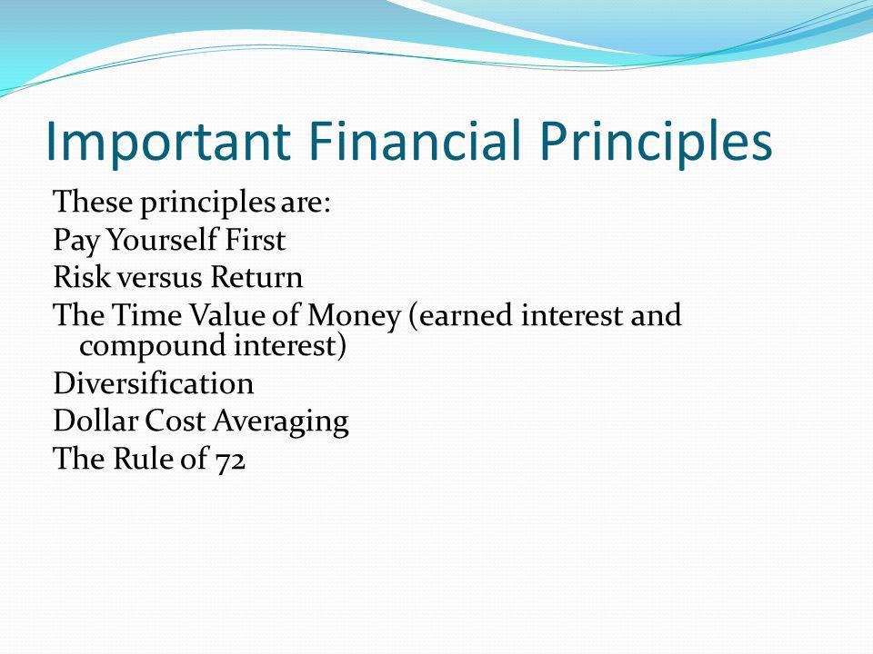 Important Financial Principles