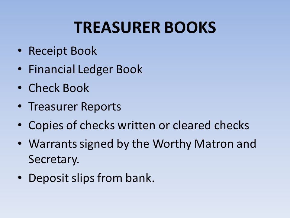 check ledger books