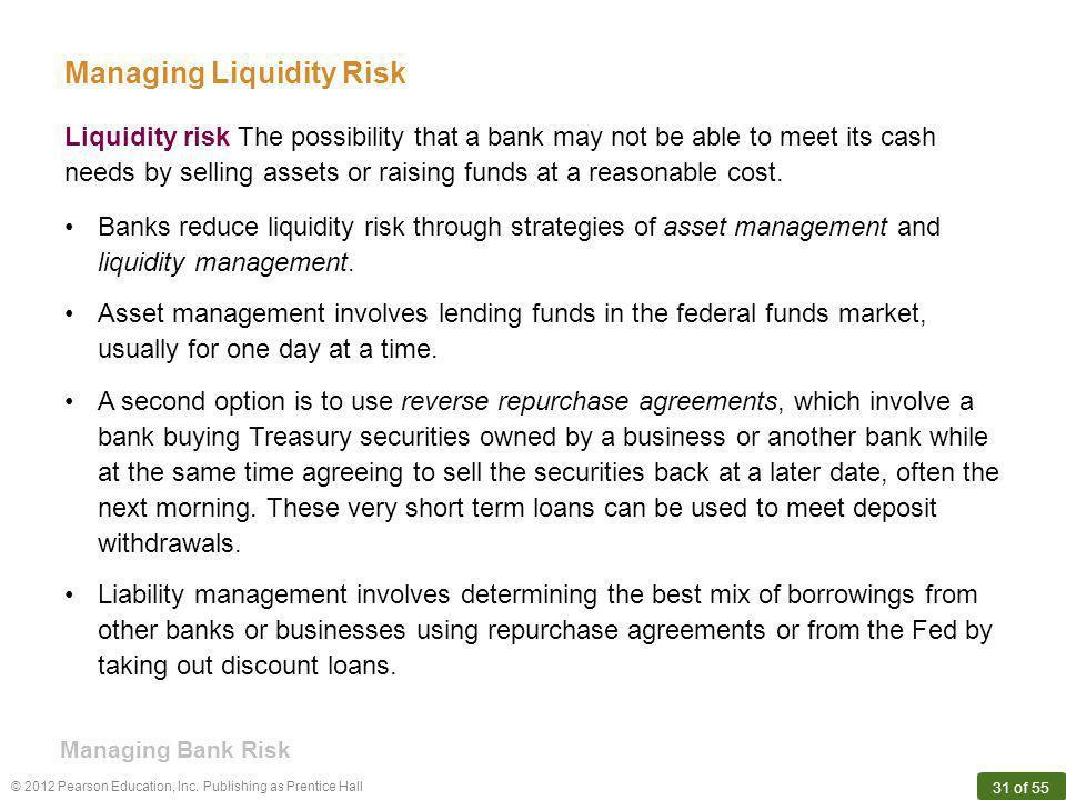 Managing Liquidity Risk