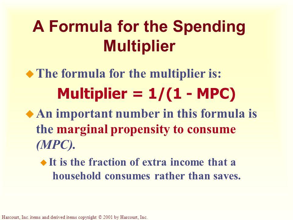 A Formula for the Spending Multiplier