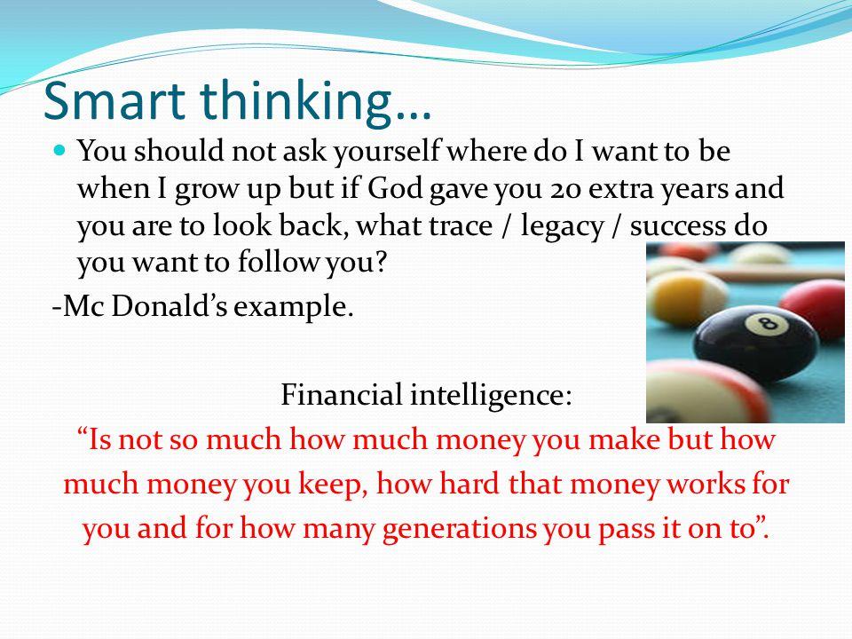 Smart thinking…