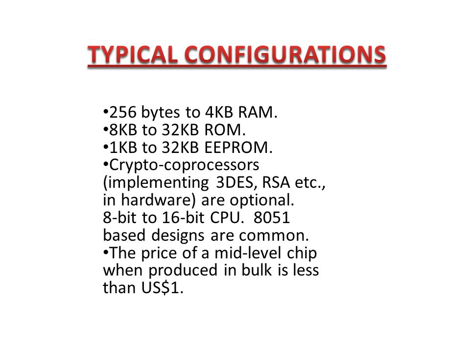 TYPICAL CONFIGURATIONS