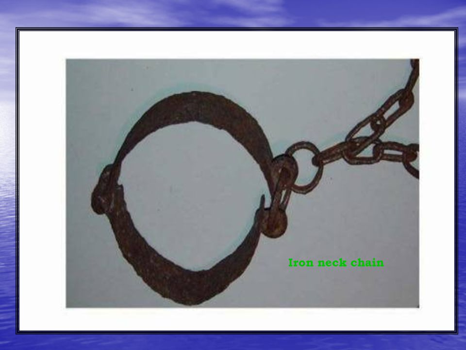 Iron neck chain