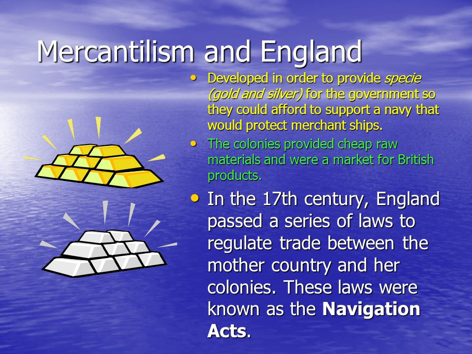 Mercantilism and England