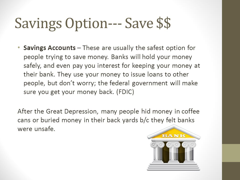 Savings Option--- Save $$