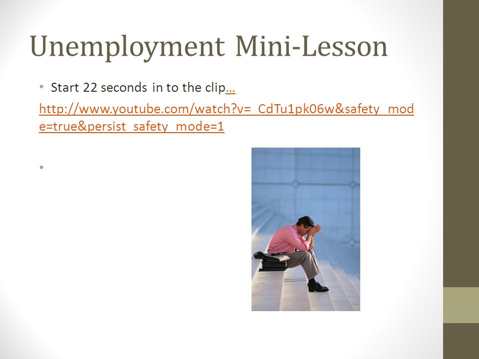 Unemployment Mini-Lesson