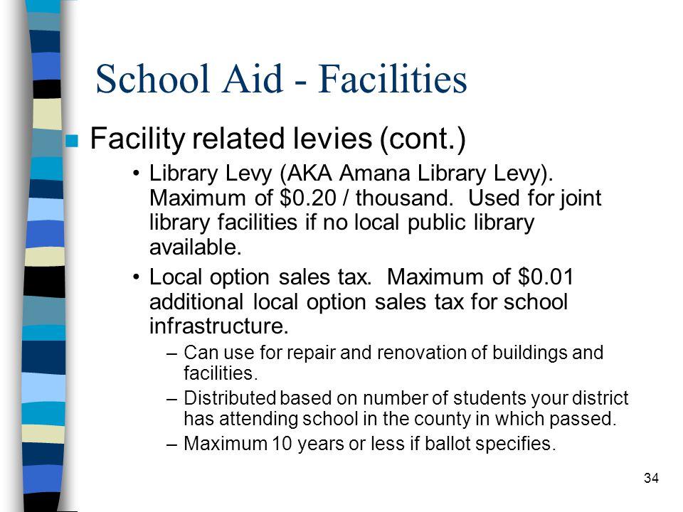 School Aid - Facilities