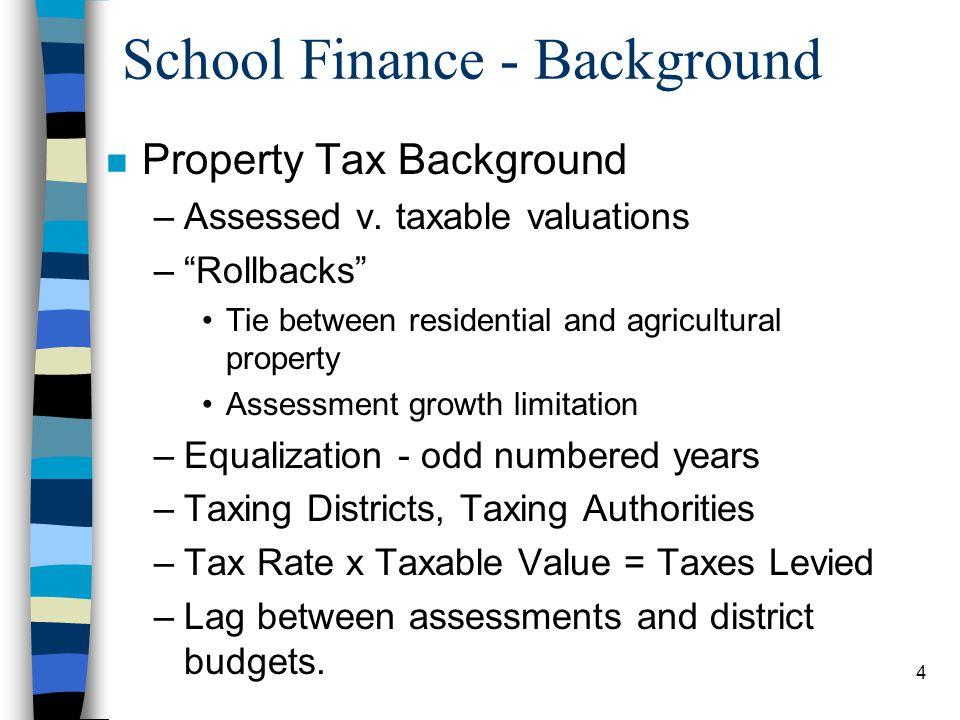 School Finance - Background