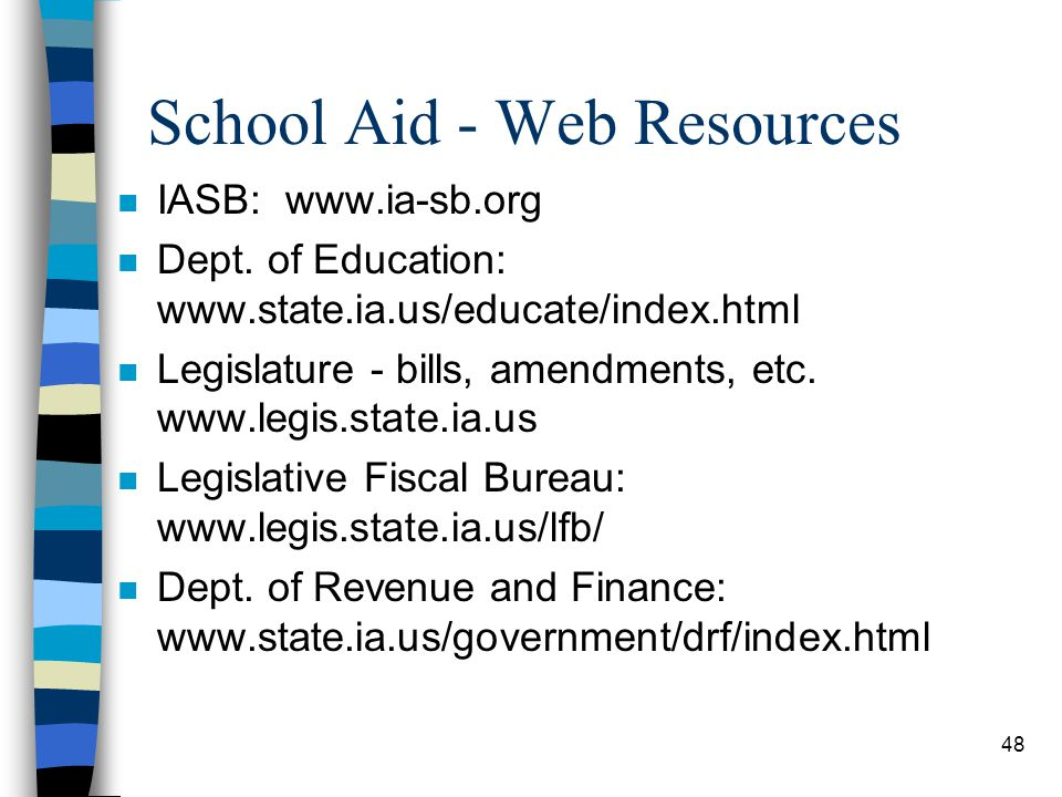 School Aid - Web Resources