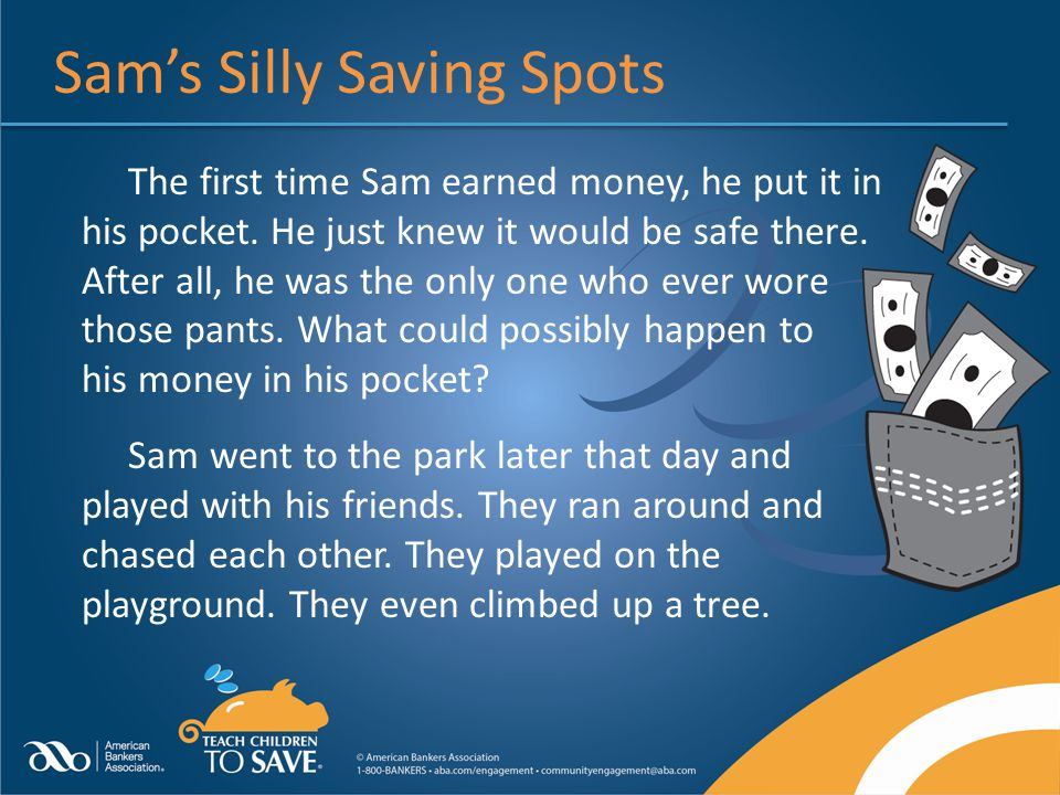 Sam's Silly Saving Spots