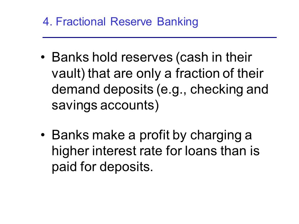 4. Fractional Reserve Banking