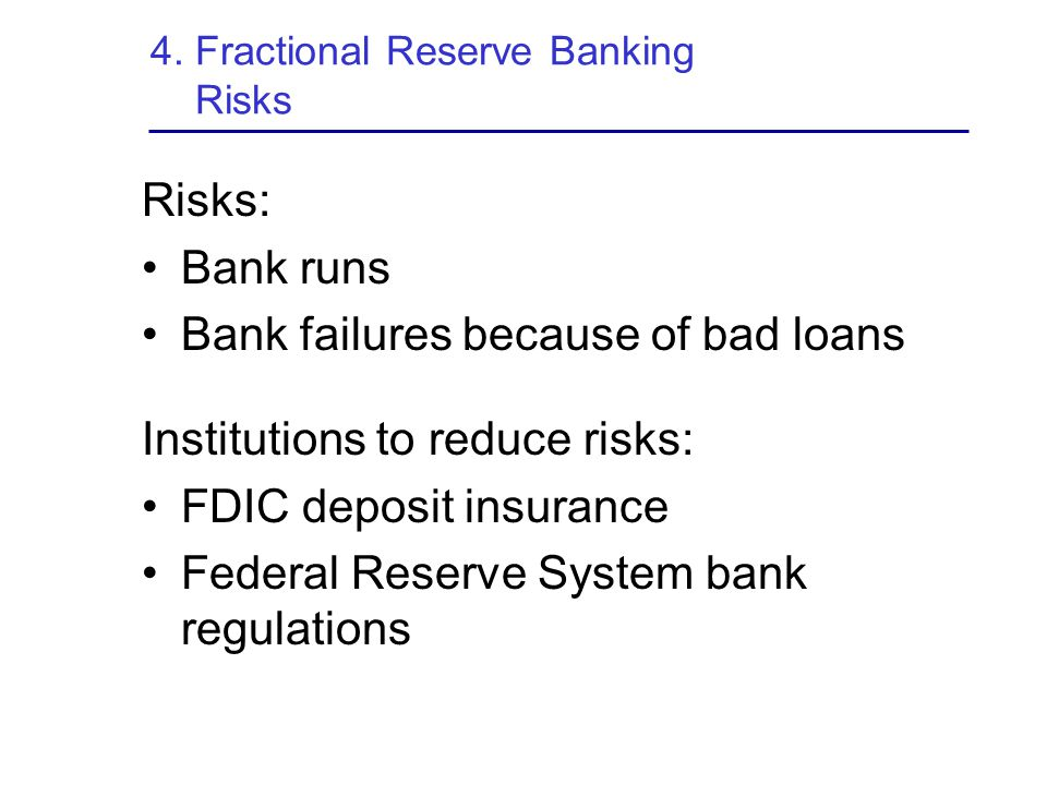 4. Fractional Reserve Banking Risks