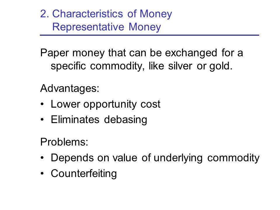 2. Characteristics of Money Representative Money