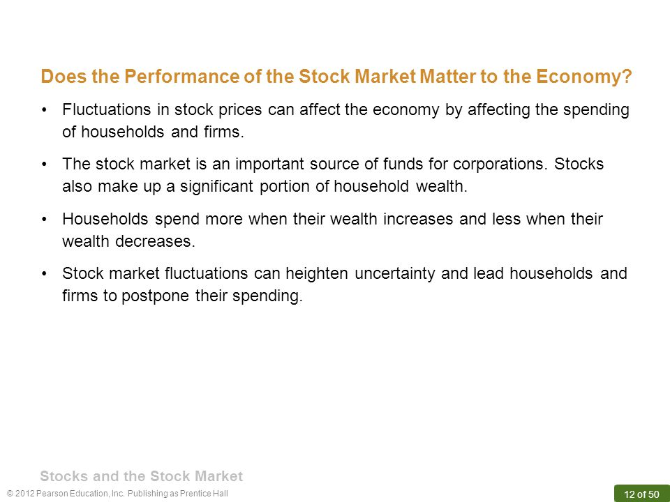 Does the Performance of the Stock Market Matter to the Economy