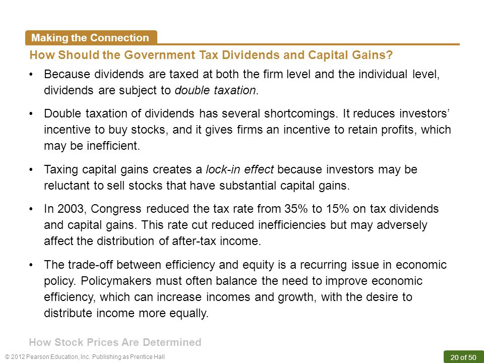 How Should the Government Tax Dividends and Capital Gains