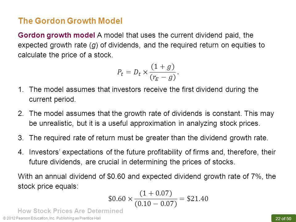 The Gordon Growth Model