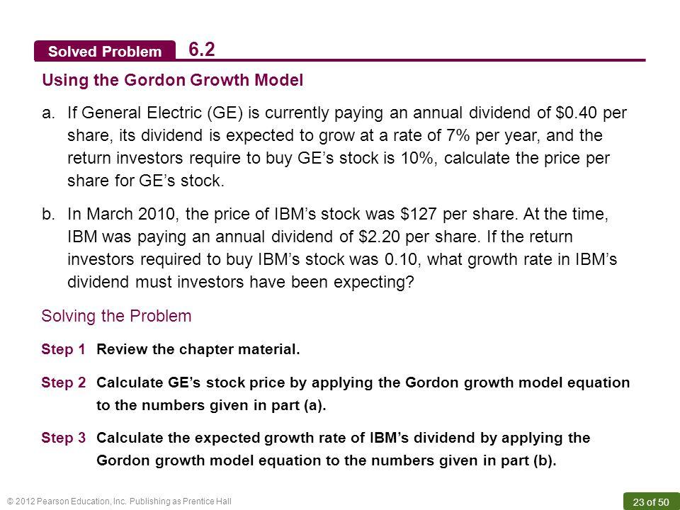 6.2 Using the Gordon Growth Model