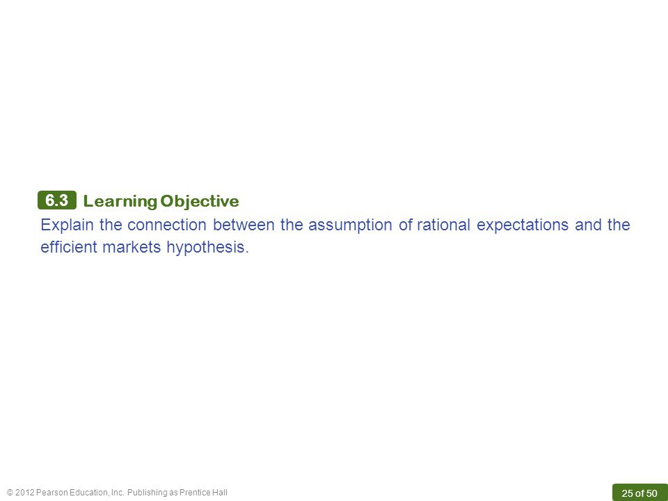 6.3 Learning Objective.