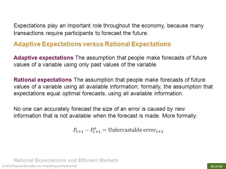 Rational Expectations and Efficient Markets
