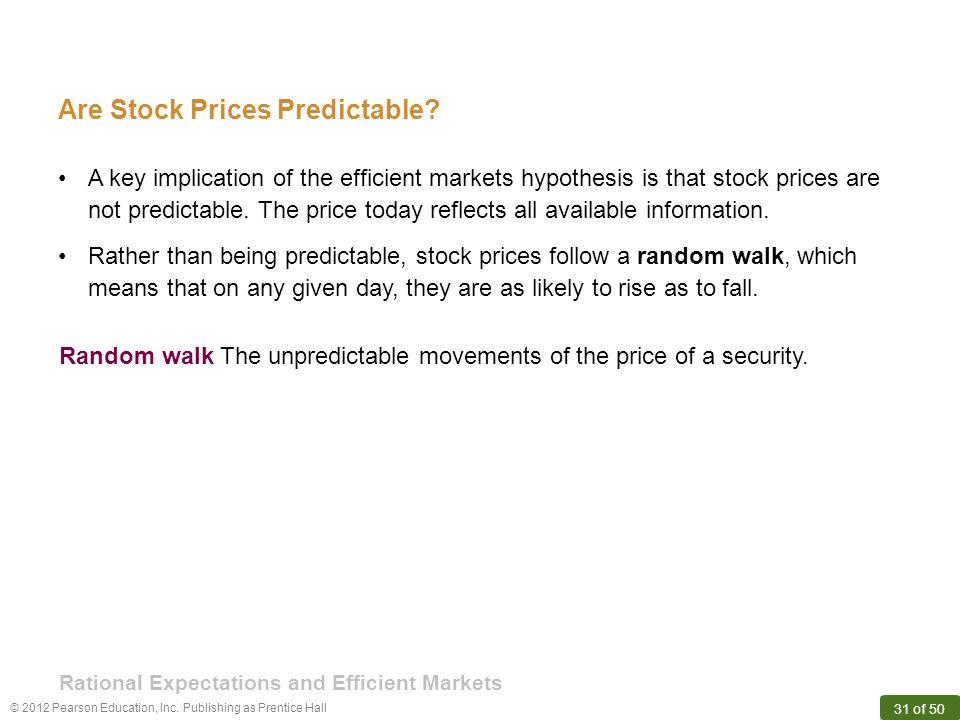 Are Stock Prices Predictable