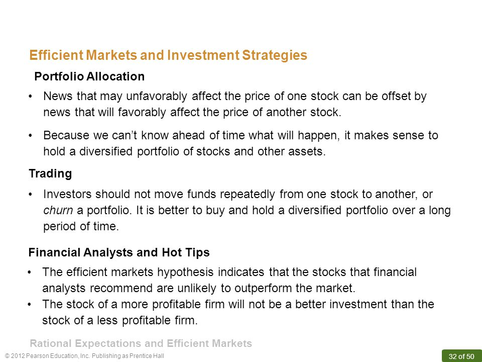 Efficient Markets and Investment Strategies