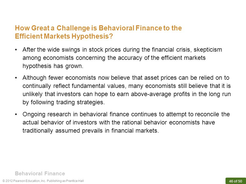 How Great a Challenge is Behavioral Finance to the