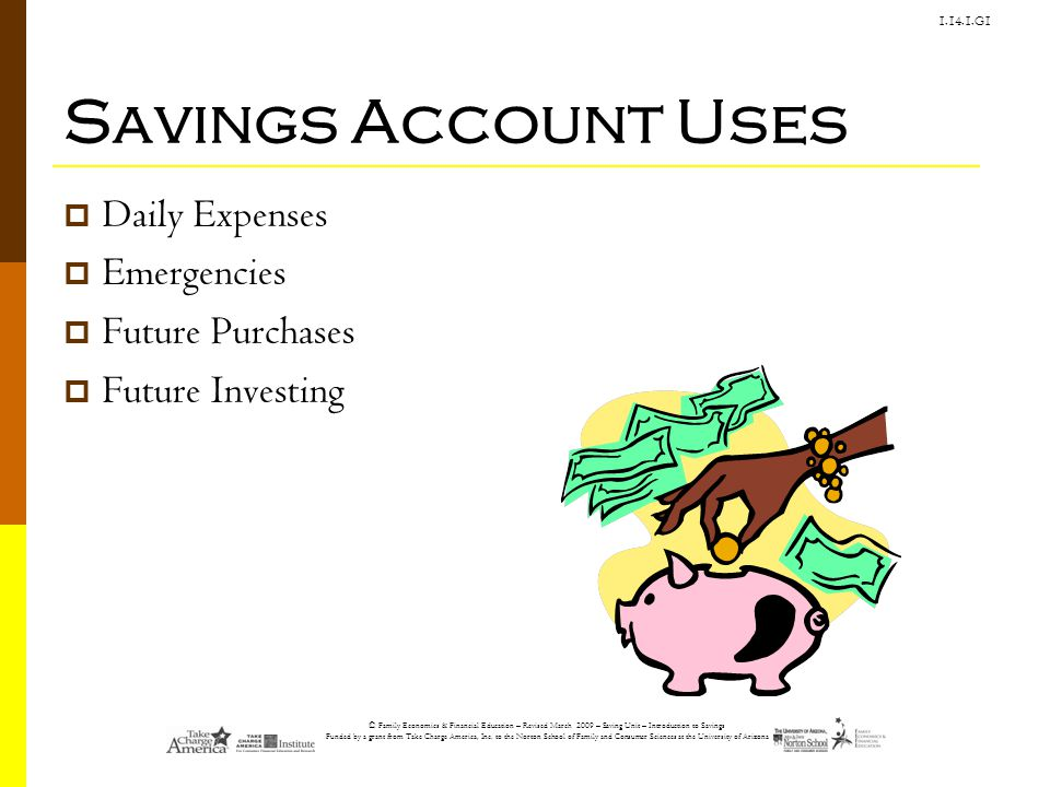 Savings Account Uses Daily Expenses Emergencies Future Purchases
