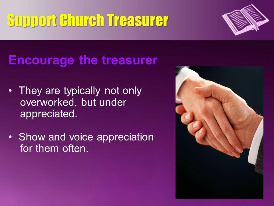 Support Church Treasurer