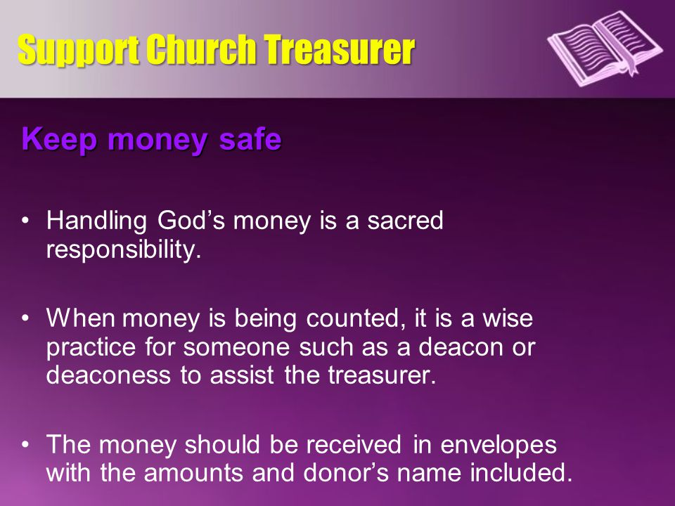 Support Church Treasurer