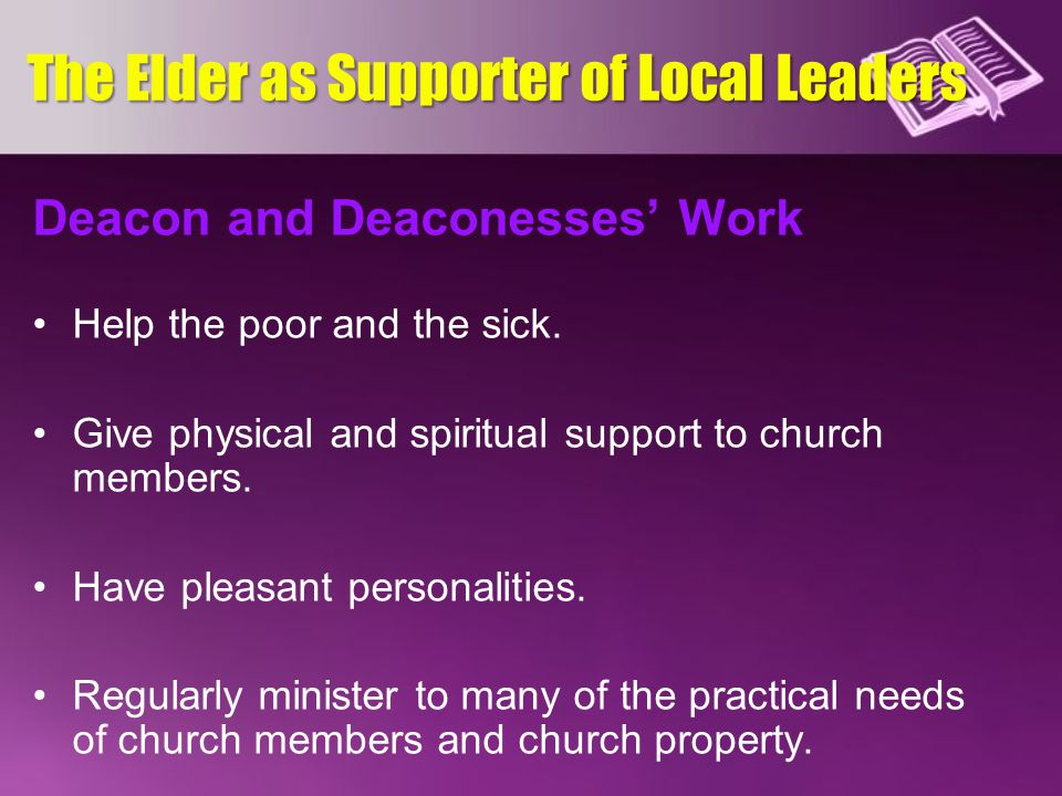 The Elder as Supporter of Local Leaders