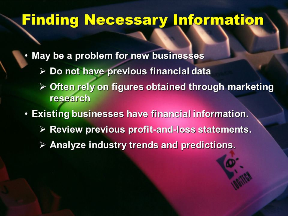 Finding Necessary Information