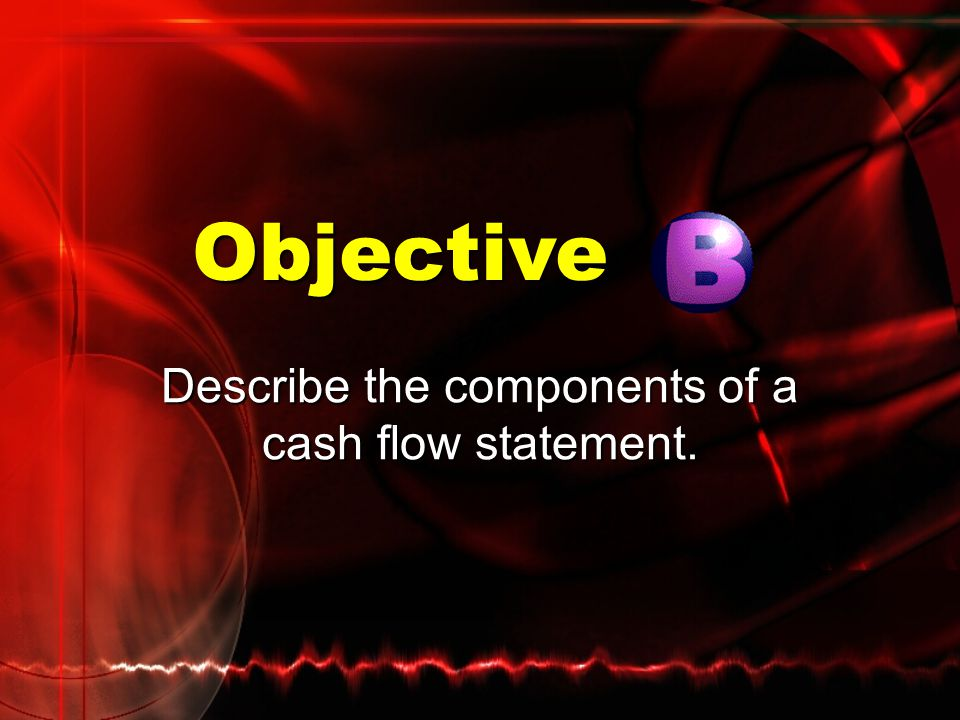 Describe the components of a cash flow statement.