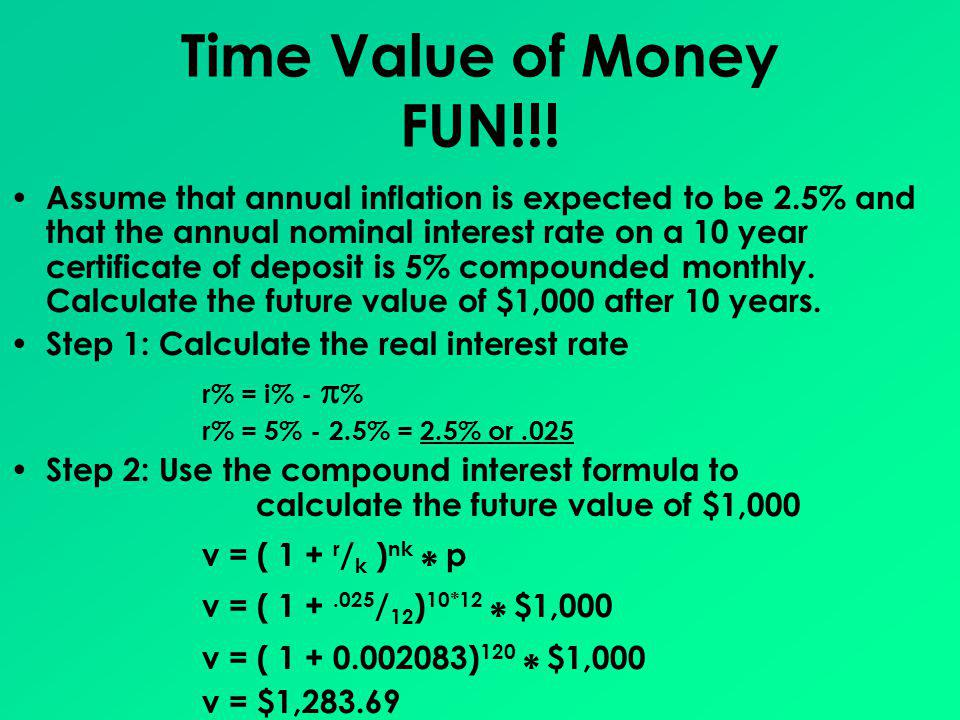 Time Value of Money FUN!!!