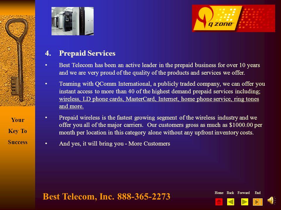 Best Telecom, Inc. 888-365-2273 4. Prepaid Services