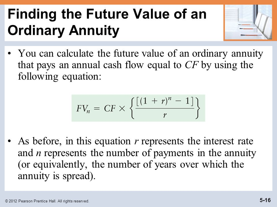 Finding the Future Value of an Ordinary Annuity