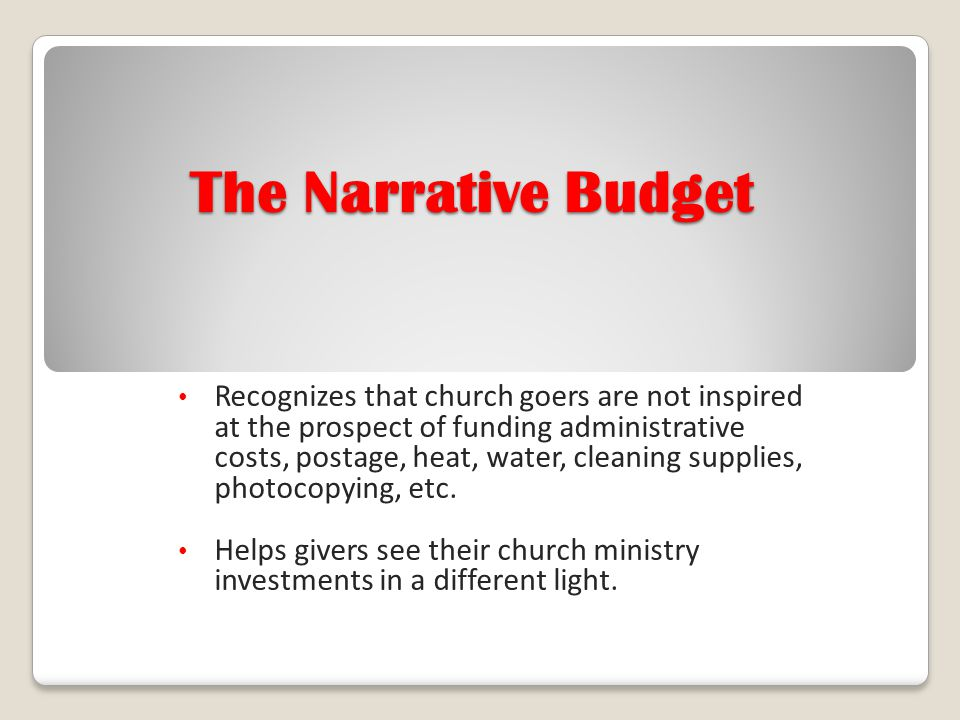 The Narrative Budget