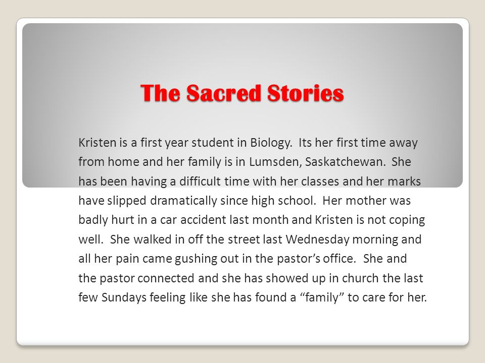 The Sacred Stories