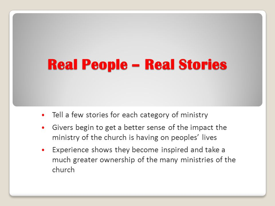 Real People – Real Stories