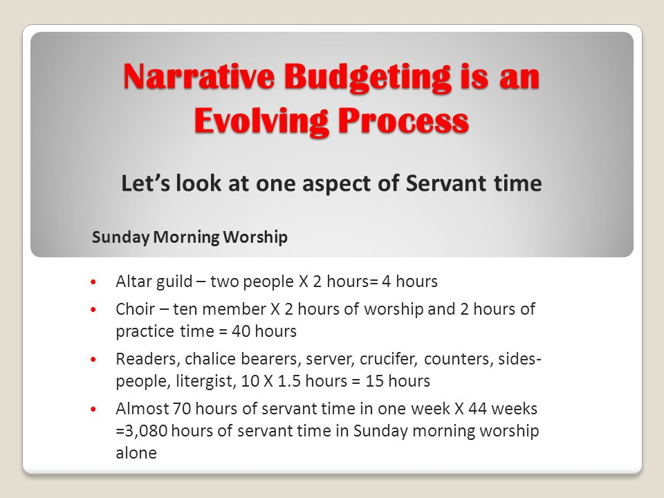 Let's look at one aspect of Servant time