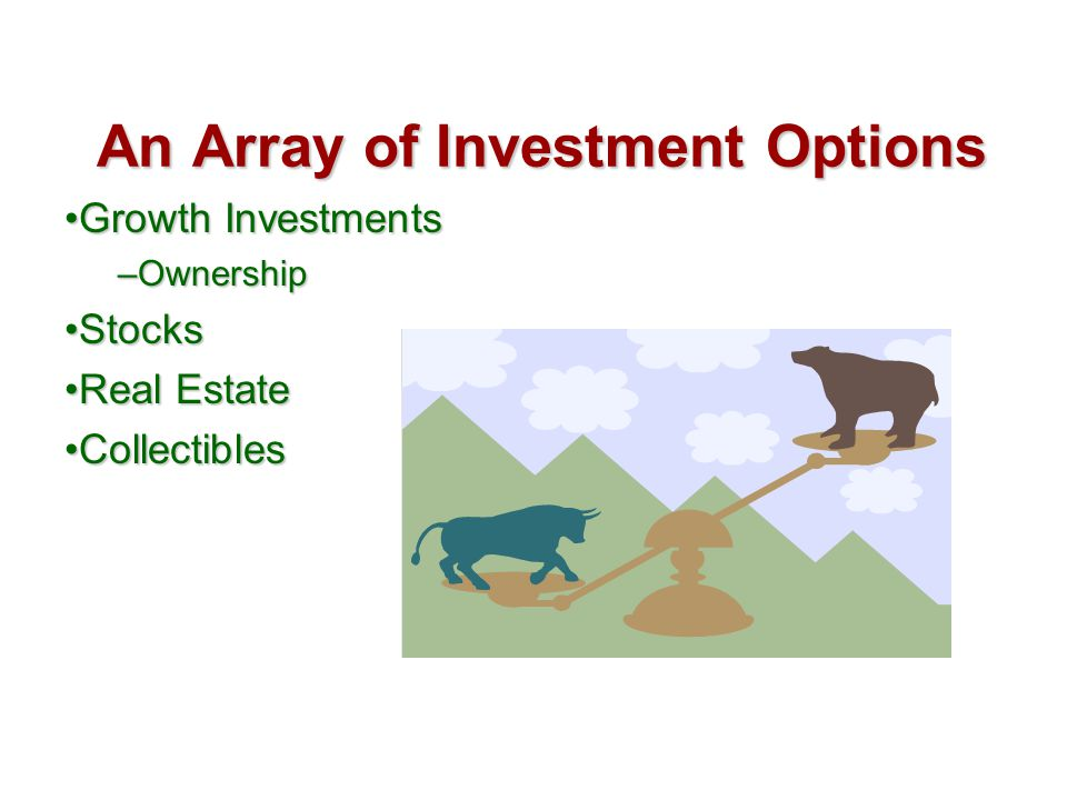 An Array of Investment Options