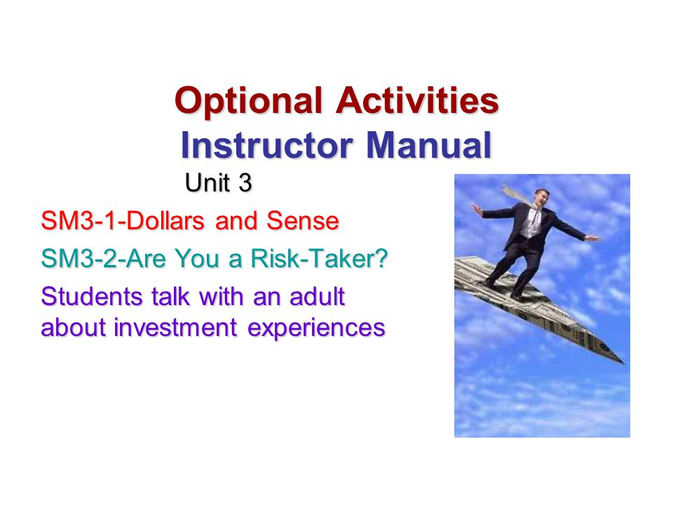 Optional Activities Instructor Manual