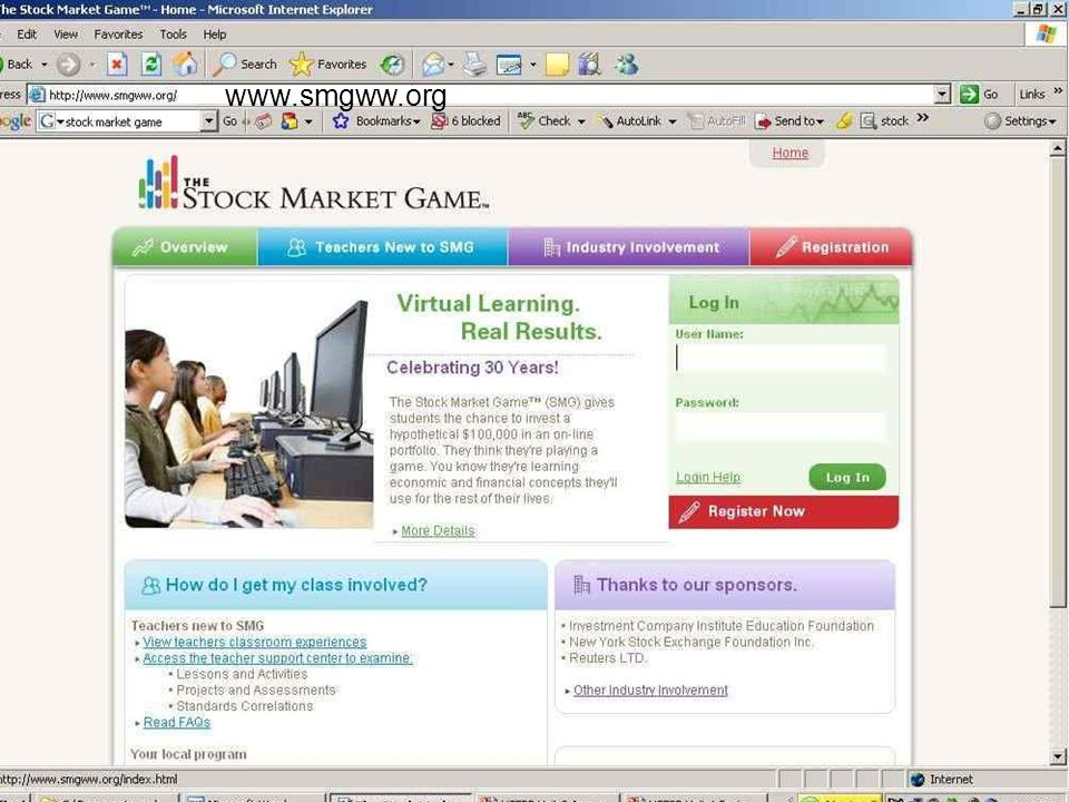 Another popular financial teaching tool is the Stock Market Game.