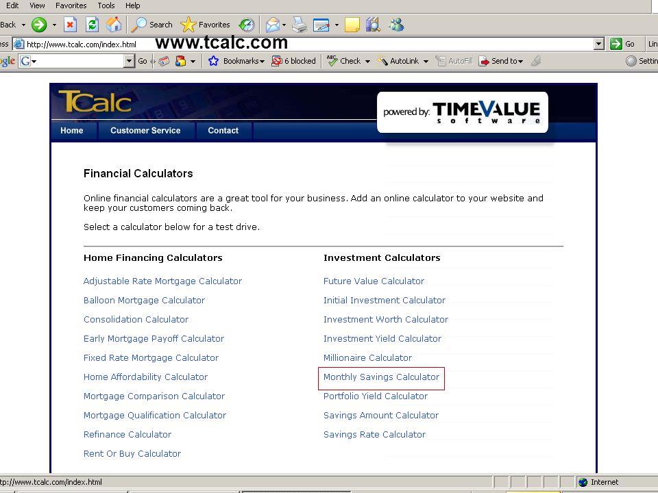 www.tcalc.com www.tcalc.com/millionaire-calculator.html