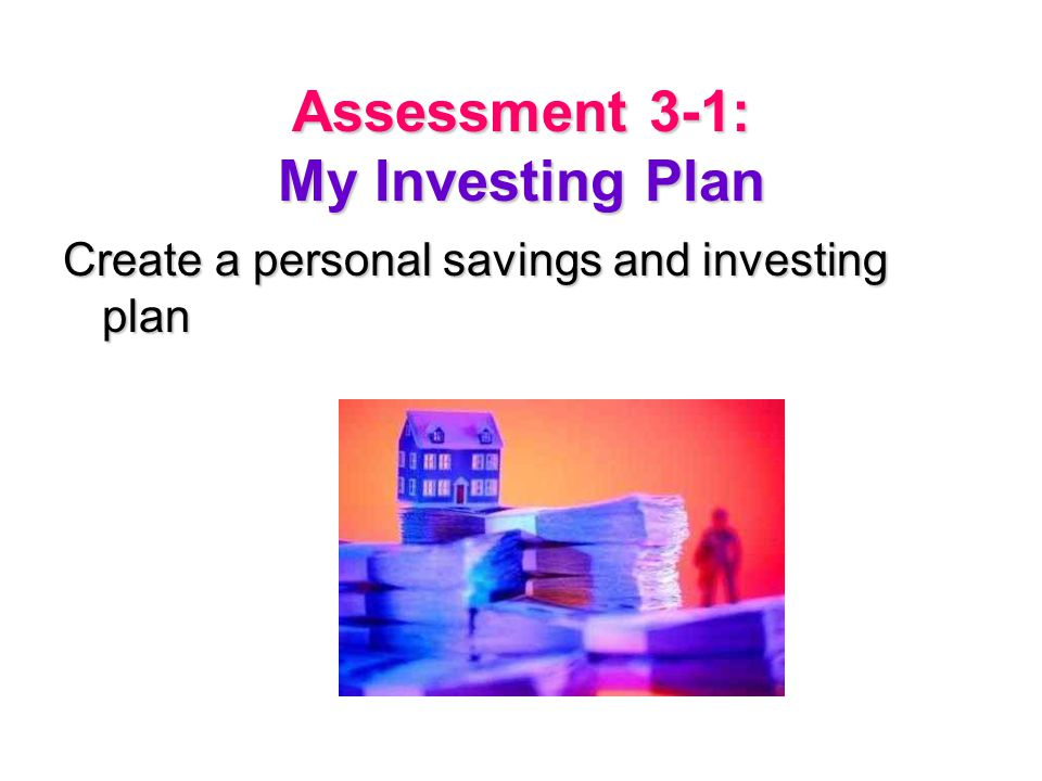 Assessment 3-1: My Investing Plan