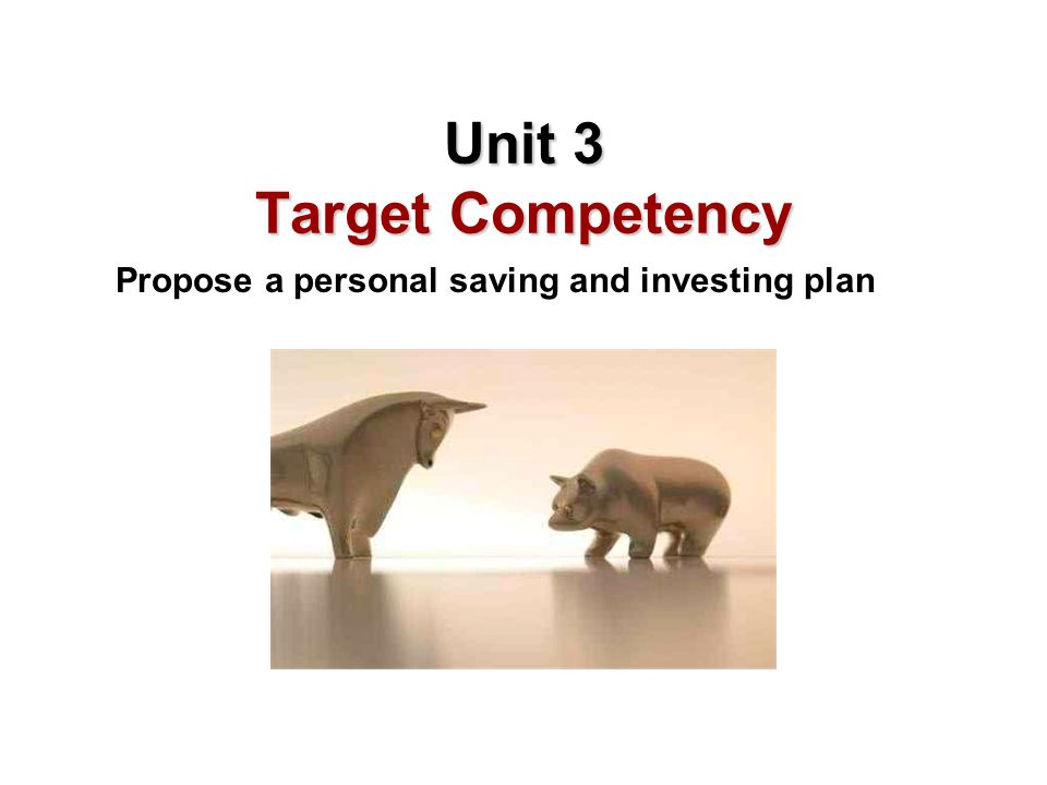Unit 3 Target Competency