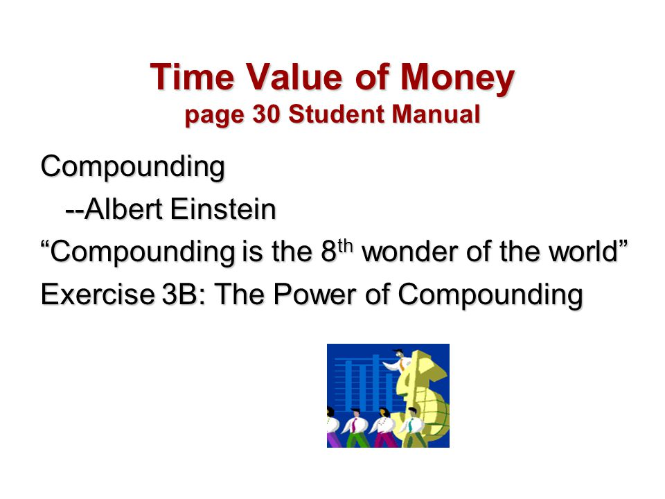 Time Value of Money page 30 Student Manual